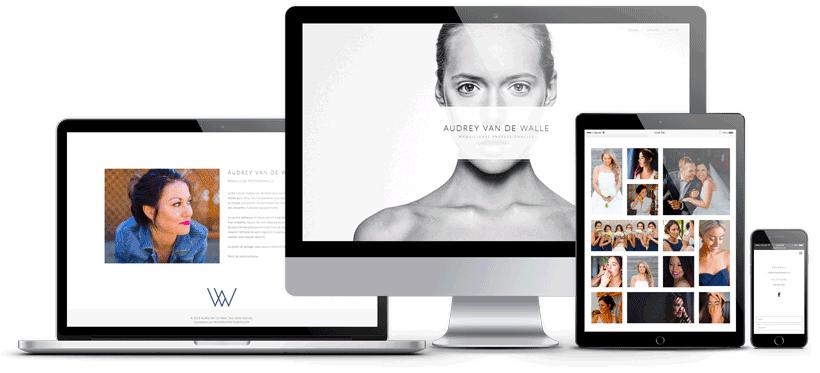 mockup du site web de Audrey Van De Walle