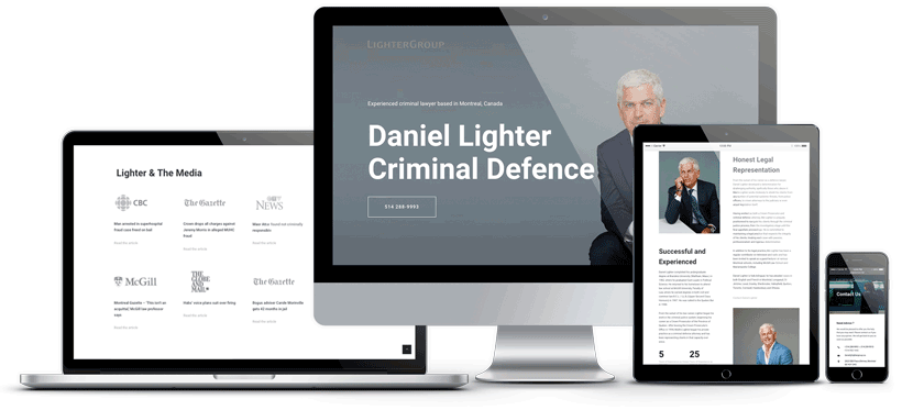 mockup du site web de Daniel Lighter
